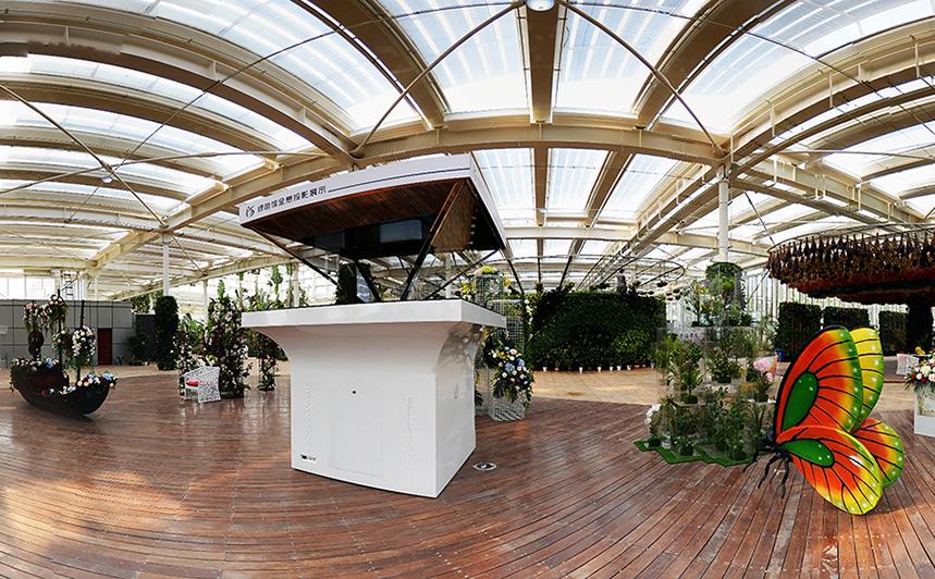 园博园绿色馆植物全息投影